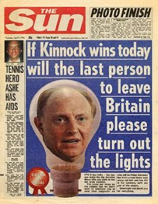 If Kinnock wins today will the last person