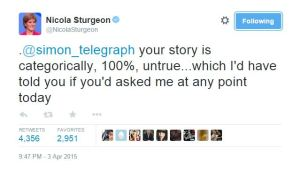 Nicola Sturgeon Telegraph Tweet